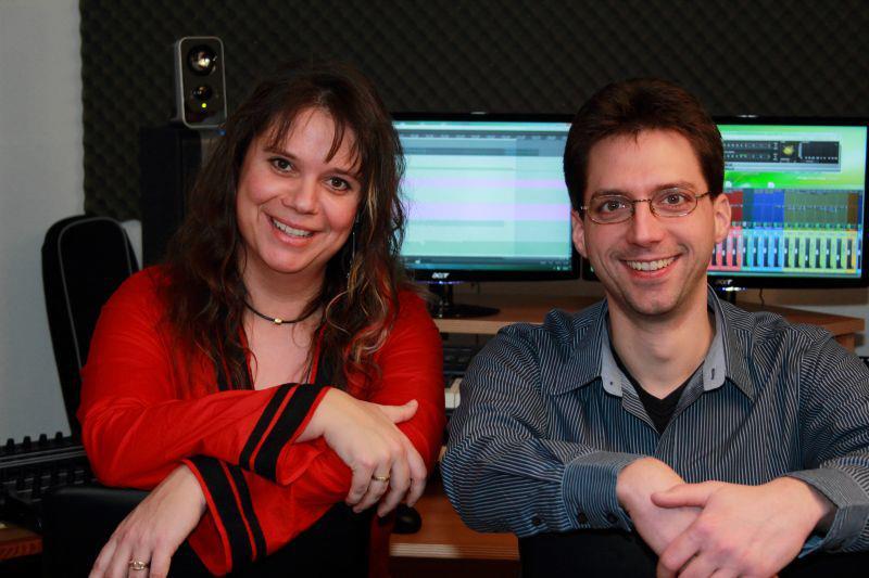 Sandra und Bastian im Studio