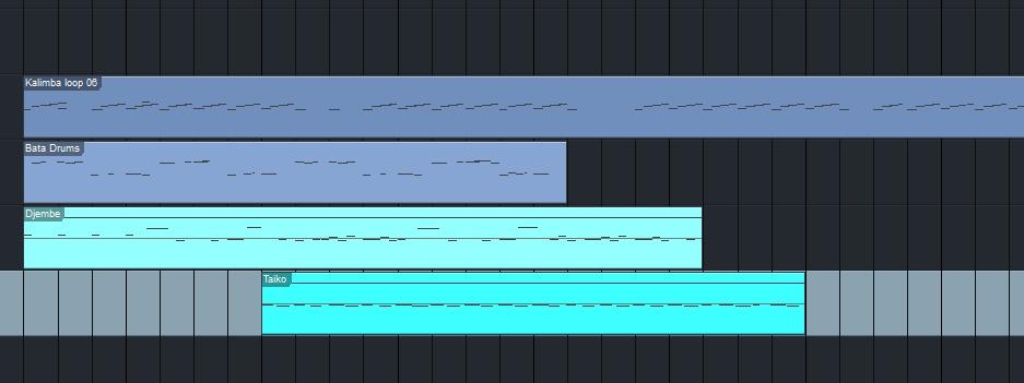 Verschiedene Percussion-Grooves in der DAW
