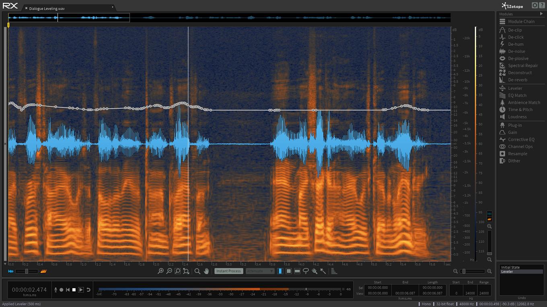 Bedienoberfläche von RX 5 Advanced Audio Editor