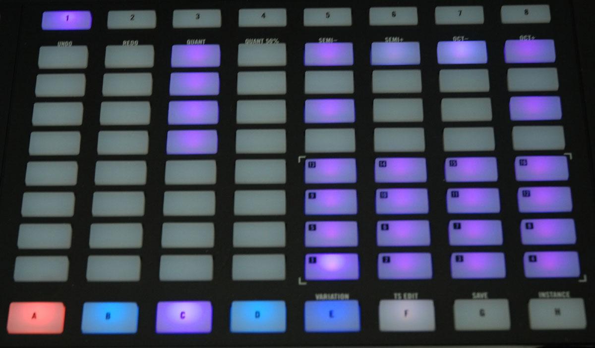 Step-Sequenzer der Maschine Jam