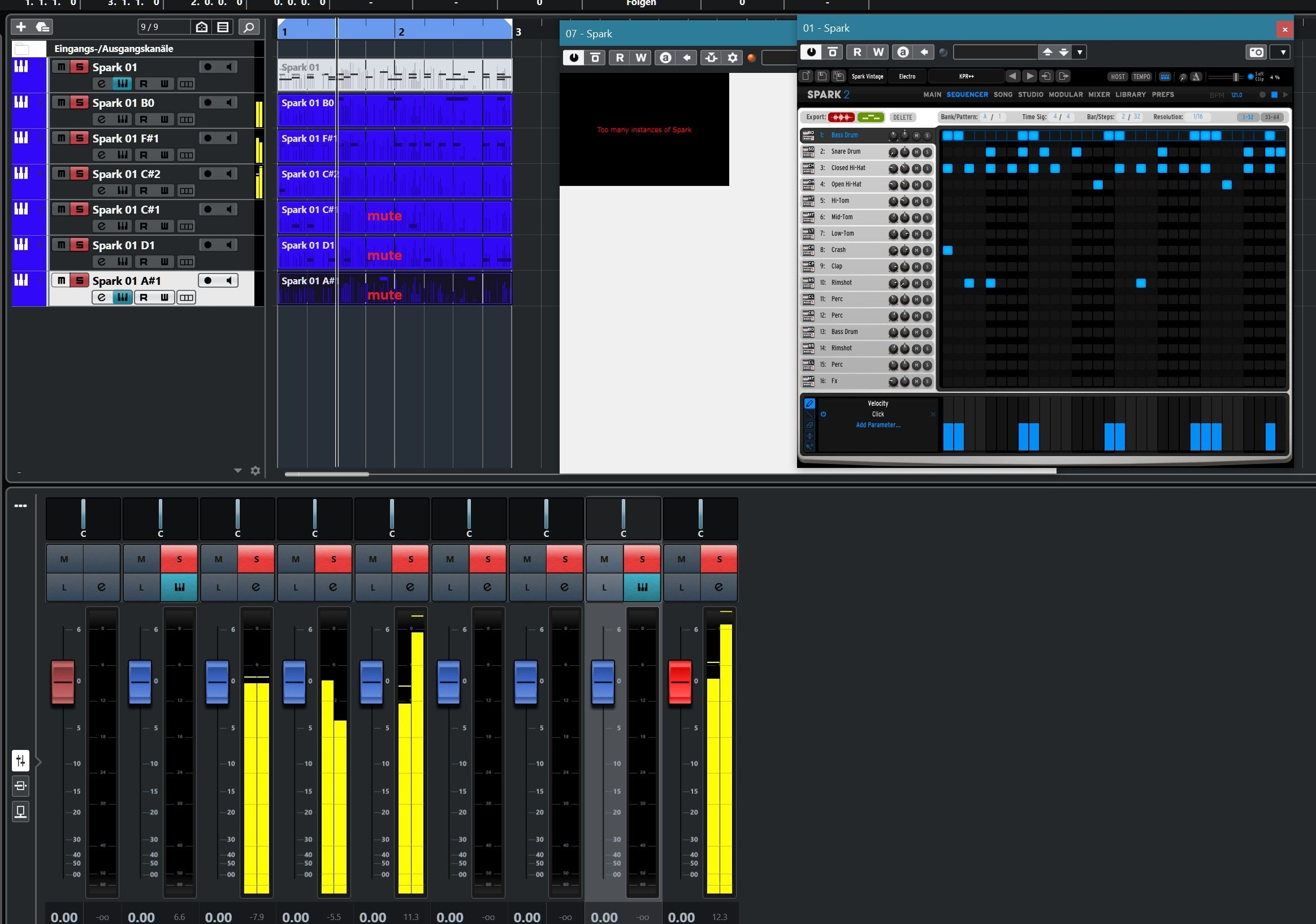Cubase 11 Spark plays only 3 Instruments after separate by pitch.jpg