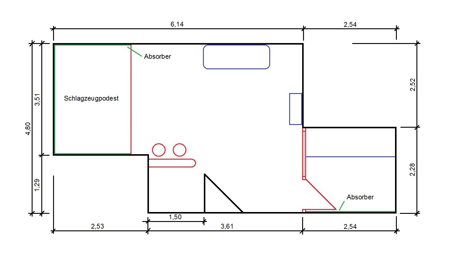 forum raumakustik d mmung proberaum aufnahmeraum. Black Bedroom Furniture Sets. Home Design Ideas
